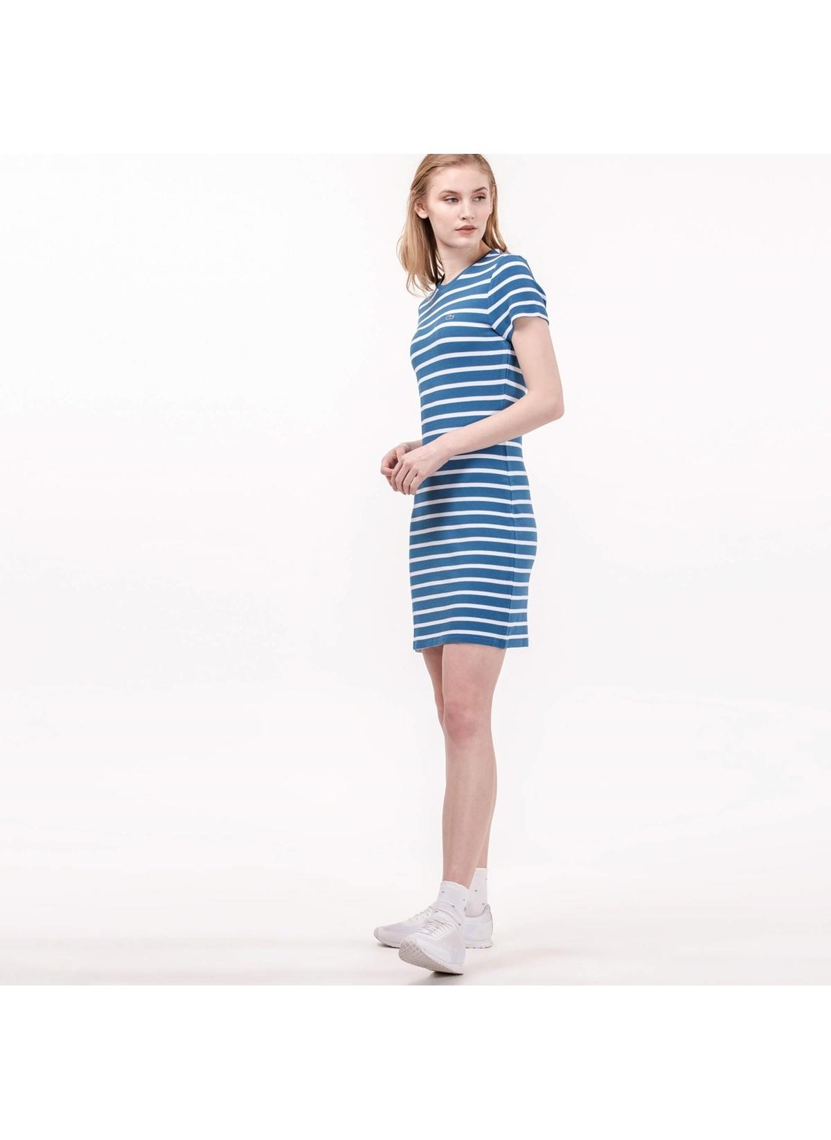7cbff1eced111 Lacoste Kadın Kısa Kollu Çizgili Mini Elbise Renkli | Morhipo | 21006045